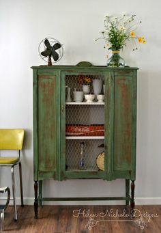 antique farmhouse hutch_boxwood milk paint_helen nichole designs_