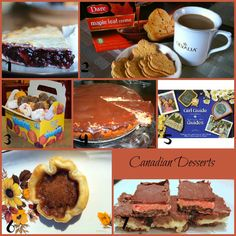 Canadian desserts ~ some of my favorite desserts.