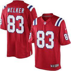 Nike New England Patriots #83 Wes Welker Lights Out Black Elite ...