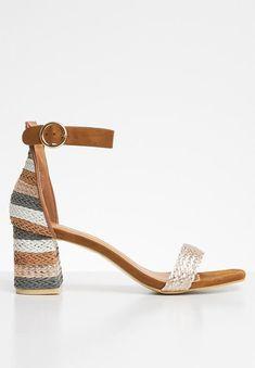 Metallic colour block heel - rose gold Jada Heels | Superbalist.com Colour Block, Metallic Colors, Jada, Block Heels, Open Toe, Ankle Strap, Two By Two, Footwear, Rose Gold