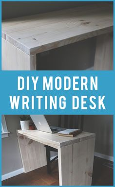 Learn to make this amazing looking modern writing desk. It is cheap and easy to make. This is a great beginner diy desk. Diy Home Decor Easy, Elegant Home Decor, Contemporary Home Decor, Elegant Homes, Cheap Home Decor, Easy Diy, Diy Furniture Cheap, Retro Furniture, Furniture Ideas