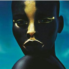 #DarkSkin #Makeup #Gold #AfricanGoddess #BlackWoman #DarkSkinGirl #Melanin