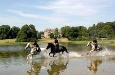 Castle Leslie, Ireland... equestrian eventing, hot air balloon rides, cooking classes and a world class spa! All I need to do is rob a  bank and I'm there!