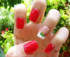 Red and white Valetine nail art! Be ready for this #Valentines Day <3