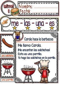 SPANISH READING - SUMMER BBQ - GUIDED READING PASSAGES - LEVEL 1 - TeachersPayTeachers.com