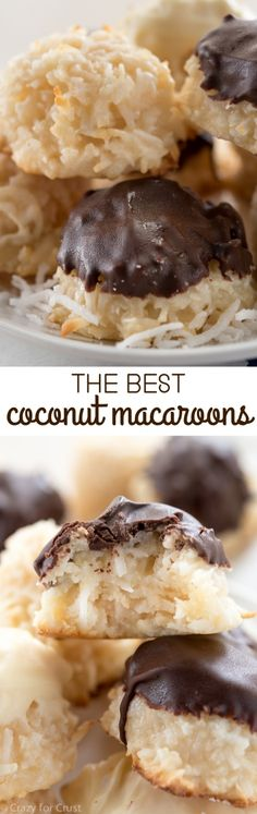 Recipes on This is the BEST Macaroon recipe! They're bakery-style, huge, and covered in chocolate!This is the BEST Macaroon recipe! They're bakery-style, huge, and covered in chocolate! Best Macaroon Recipe, Macaroon Recipes, Just Desserts, Dessert Recipes, Frosting Recipes, Bon Dessert, Dessert Food, Yummy Cookies, Baking Cookies