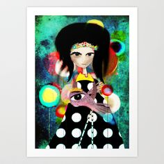 The reason I hold on Art Print by Ruth Fitta Schulz #illustration