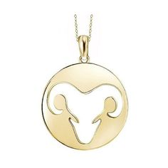 Women's Aries Zodiac Pendant - Yellow ($30) ❤ liked on Polyvore featuring jewelry, pendants, yellow, charm pendant, pendant jewelry, yellow pendant, fine jewellery and anklet jewelry