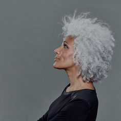 White Hot is a capsule collection of haircare products especially created which works to brighten, cleanse, nourish & style glorious white and grey hair Silver Grey Hair, White Hair, Jandy Nelson, Grey Hair Inspiration, Curly Hair Styles, Natural Hair Styles, Salt And Pepper Hair, Color Plata, Ageless Beauty