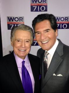 Ernie Anastos popular New York Emmy Award TV news anchor joins America's host Regis Philbin on WOR as radio commentators for the new Clear Channel station in New York.