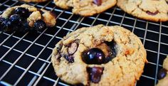 Chocolate Chip Blueberry Peanut Butter Cookies