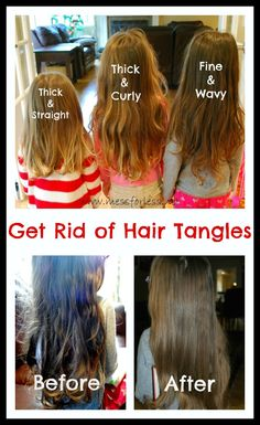 Get Rid of Hair Tangles Plus a Recipe for Homemade Detangler. Never waste time with tangles again.