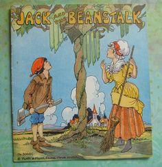 Vintage 1834 Platt & Munk Jack and the Beanstalk book