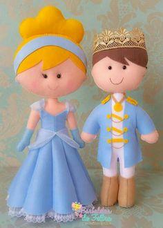 Princsa e príncipe feltro