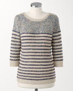 Demi striped pullover - [K22353]