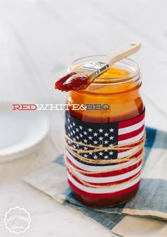 Celebrate Memorial Day by swapping out store-bought for homemade. Try this Sweet and Smoky Barbecue Sauce that uses SPLENDA® Brown Sugar Blend instead of full sugar. To really show off while serving, place the barbecue sauce in this patriotic mason jar. Here's how: Take a clean, empty jar, print out a color photo of the flag, and tie it around the jar with some twine, adding a rustic feel to your meal.