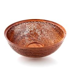 We have new Koa bowls hand crafted by husband-wife team Pat and Peggy Bookey. Pat lathe-turned each of these Koa bowls. Then, Peggy drilled minute holes into each one to form a lace like pattern with Hawaiian flowers and sea creatures. This is NOT made with a laser or a computer or a pattern. We're not simply impressed. We're amazed!