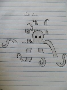 From (Raily Lima) Octopus. From (Raily Lima) wallpaperpinteres Octopus. From (Raily Lima) Octopus. From (Raily Lima) wallpaperpinteres Drawings �� Octopus. From (Raily Lima) Octopus. From (Raily Lima) wallpaperpinteres Drawings �� Cool Art Drawings, Pencil Art Drawings, Art Drawings Sketches, Tattoo Drawings, Cool Drawings For Kids, Easy Drawings Of Animals, Drawing With Pencil, Simple Art Drawings, Drawings On Lined Paper