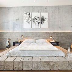 Grote slaapkamer? Maak een groot & log gebaar. Kijk ns wat 'n tof idee! #interieur #inspiratie (via homedesignlover)