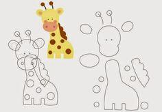 Amigas do Feltro!: Molde Safári Erica Catarina - A series of felt animal patterns that could be used for applique, too. Felt Animal Patterns, Stuffed Animal Patterns, Felt Diy, Felt Crafts, Erica Catarina, Felt Templates, Applique Templates, Applique Patterns, Felt Dolls