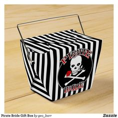 Pirate Bride Gift Box Pirate Party Invitations, Pirate Wedding, Walking The Plank, Pirate Birthday, Jolly Roger, Skull And Crossbones, Favor Boxes, Wedding Groom, Bride Gifts