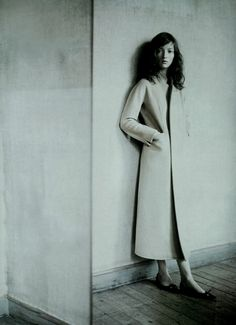 "Audrey Marnay in ""A Mirror Story"", photographed by Paolo Roversi for Vogue Italia October 1998."