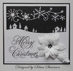 Black and White Merry Christmas by Selma - Cards and Paper Crafts at Splitcoaststampers