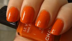 Chanel Holiday. it is the perfect pumpkin color!