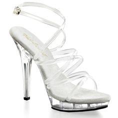 Pleaser shoes adore 701 sandales mules stiletto high heels peep orteils pole dance