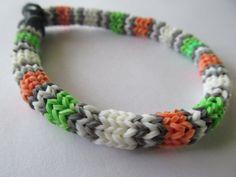 Irish Flag Hexafish Rainbow Loom Bracelet by MrPeabodysCustomary, $5.98