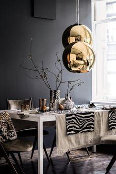 серый цвет в интерьере серый + золото