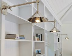 Library lights by Urban Electric Company.
