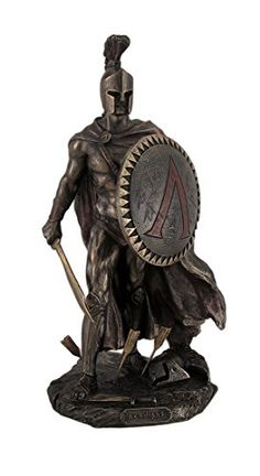Leonidas Spartan King with Sword & Shield Statue Sculpture Zeckos http://www.amazon.com/dp/B00VTUL33I/ref=cm_sw_r_pi_dp_bcrywb0QCK3MZ