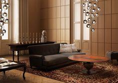 Dew LED Suspension Kundalini at Lightology Living Room Lighting Design, Living Room Decor, Interior Styling, Interior Design, Italia Design, Home Decor Lights, Italian Furniture, Modern Furniture, Glass Diffuser