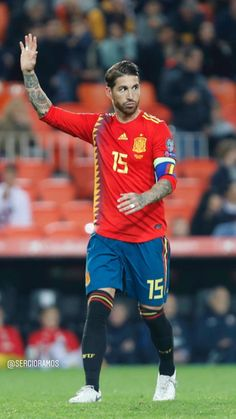 Sergio Ramos of Real Madrid & Spain Ramos Real Madrid, Spain Football, Ronaldo Real Madrid, Soccer Players, Cristiano Ronaldo, Socks, Marvel, Tumblr, Sport