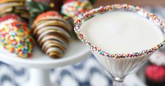 Birthday parties are even better with easy, birthday cake inspired cocktail recipe. Just four ingredients and two steps to a cocktail worth celebrating.