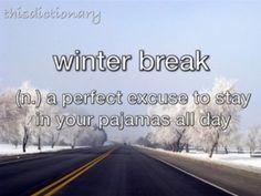 Winter break pjs :)