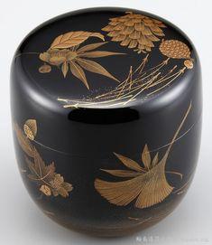 棗(Natsume)研ぎ出し蒔絵吹き寄せ春秋の図