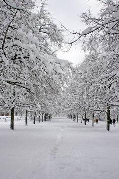 München im Winter II von Rhöner und Münchner Fineart auf DaWanda.com