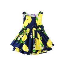 Novas Meninas Do Bebê Vestido de Criança Roupa Dos Miúdos Sem Mangas Flor Vestido Tutu Vestidos de Festa X56 alishoppbrasil