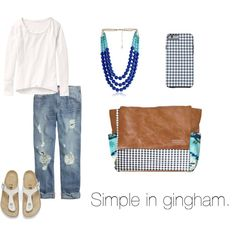 """""""Simple in Gingham"""" by katelynbecze on Polyvore"""
