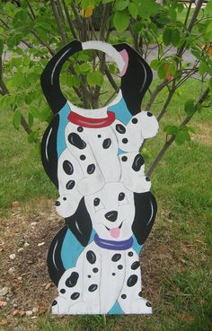 Dalmatian Puppies Birthday Party Photo Prop Sign - Hand-Painted Wood - Keepsake on Etsy, $89.99