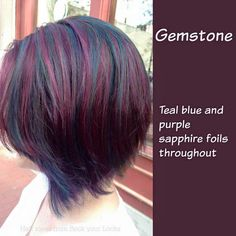 rock your locks hair Haircut And Color, Hair Color And Cut, New Hair Colors, Cool Hair Color, Look 2018, Corte Y Color, Hair Highlights, Purple Highlights, Purple Hair
