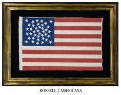 39 Star Medallion Pattern Antique Flag, #BonsellAmericana
