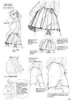 The folds for the skirts Manga Drawing Tutorials, Drawing Techniques, Art Tutorials, Drawing Reference Poses, Drawing Poses, Anime Drawings Sketches, Art Drawings, Digital Art Tutorial, Art Poses