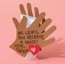 Great idea for Teacher Valentine! This would be great with a Mary Kay hand cream in it! Let me know if you need one! :)