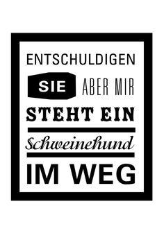 Sprücheposter Schweinehund // print by Ask & Embla via dawanda.com