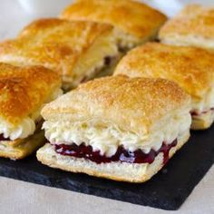 Homemade Flakies with raspberry compote & vanilla cream - a nostalgic tribute to the Vachon Flakie, one of my very favourite snack cake treats as a kid.