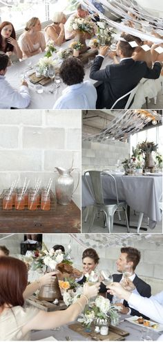 Industrial inspired wedding...