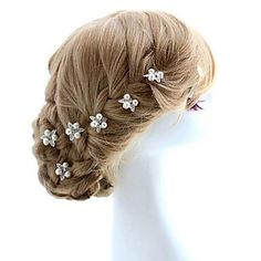 Women/Flower Girl Alloy/Imitation Pearl Hairpins With Wedding/Party Headpiece – USD $ 4.99